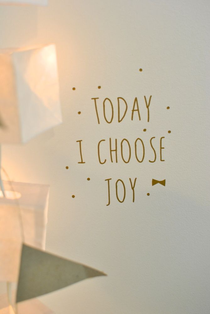 "sticker ""today I choose joy"" / Simply factory"