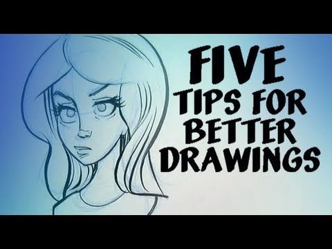 5 tips for better drawings. Including spinning the page, drawing towards you and varying lines. Super awesome!