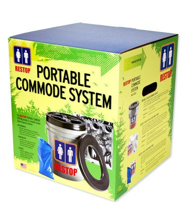 Loving this Portable Commode System & Eight-Bag Set on #zulily! #zulilyfinds