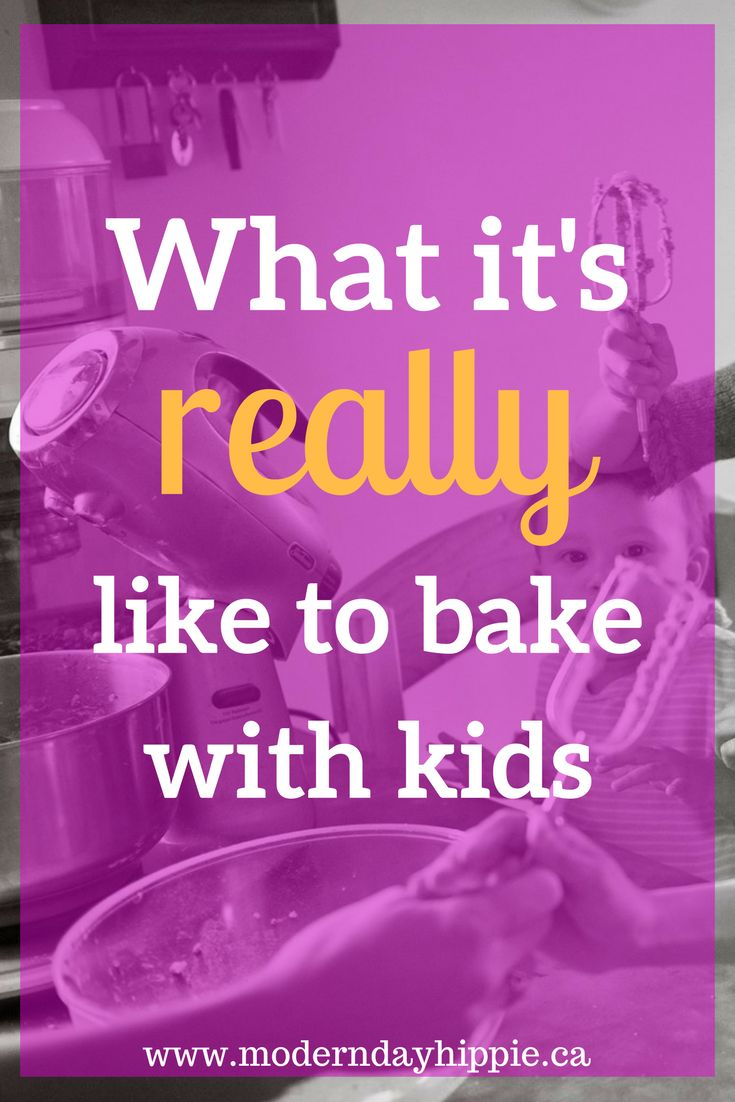 As children, many of us had great experiences getting to bake with our mothers. Now that we're moms we know exactly what's involved when we bake with kids. via @Modern Day Hippie Mama