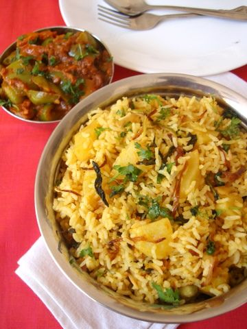 'Biryani' ... Scroll to half-way down the page for Recipe ... Lots of Indian food recipes here