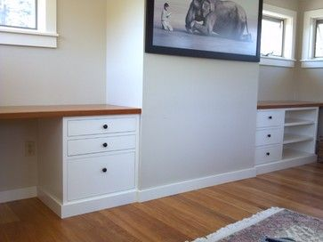 built in desks | Built-in desk - contemporary - home office products - portland maine ...