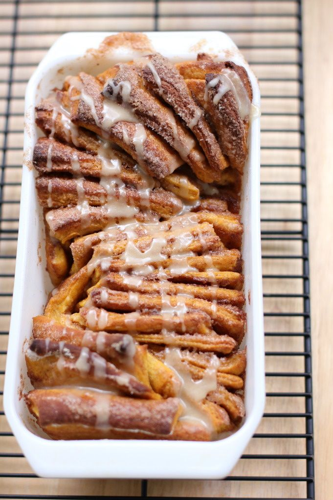 Pumpkin Spice Pull-Apart Bread with Butter Rum Glaze: Spice Pull Apart, Butter Rum, Recipe, Pullapart, Pumpkins, Breads, Pumpkin Spice, Pull Apart Bread, Spices