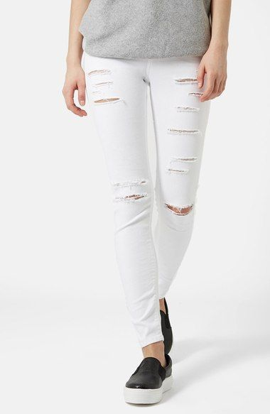 Topshop Moto 'Jamie' Ripped Skinny Jeans available at #Nordstrom