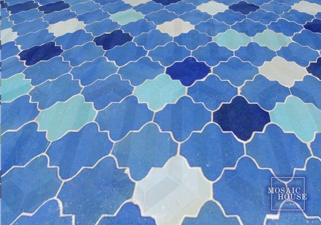 Blue Moorish tiles
