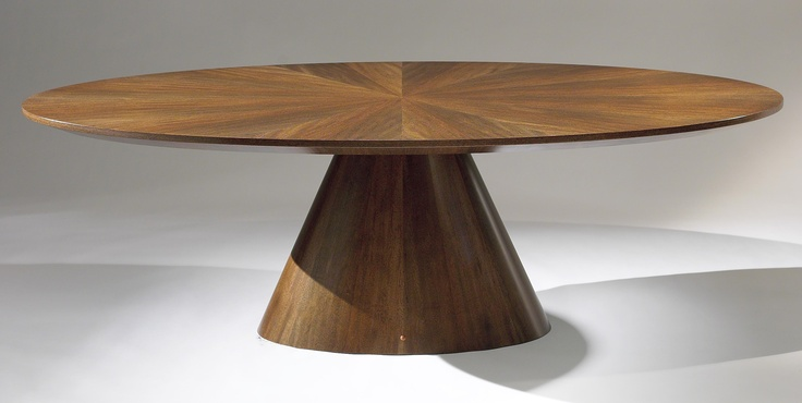 The ellipse ii dining table shown here measures 90 quot long x 44 quot wide x