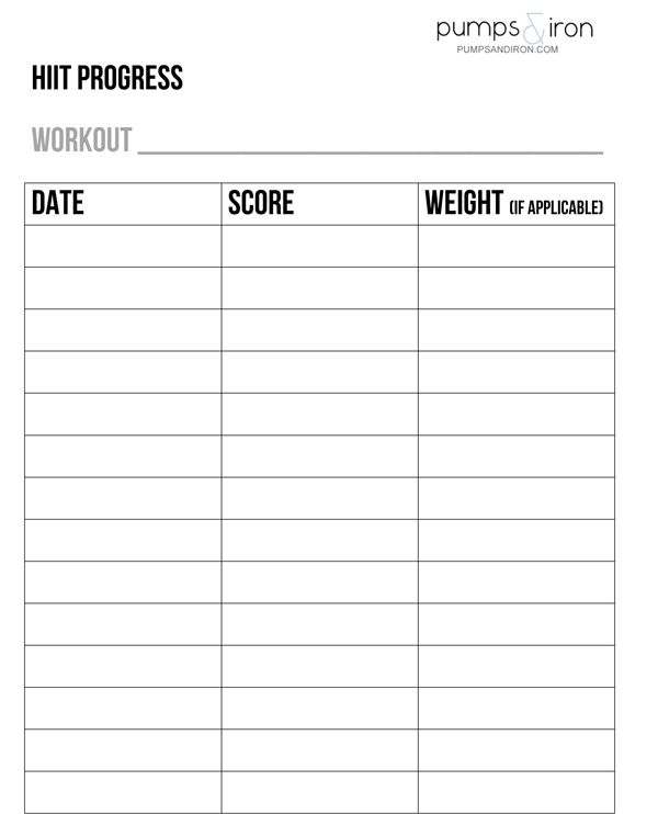 Tracking Your Progress with HIIT Workouts (+Printable Chart)