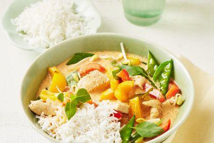 Rotes Hähnchencurry  'Thai-Style', ein gutes Rezept aus der Kategorie Geflügel. Bewertungen: 10. Durchschnitt: Ø 4,2.