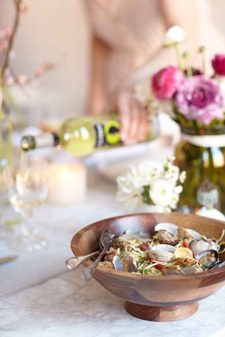 a bloom-filled housewarming party