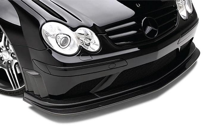 2007-2009 Mercedes CLK AMG Black Series W209 Carbon AF-1 Front Add-On Spoiler ( CFP ) - 1 Piece