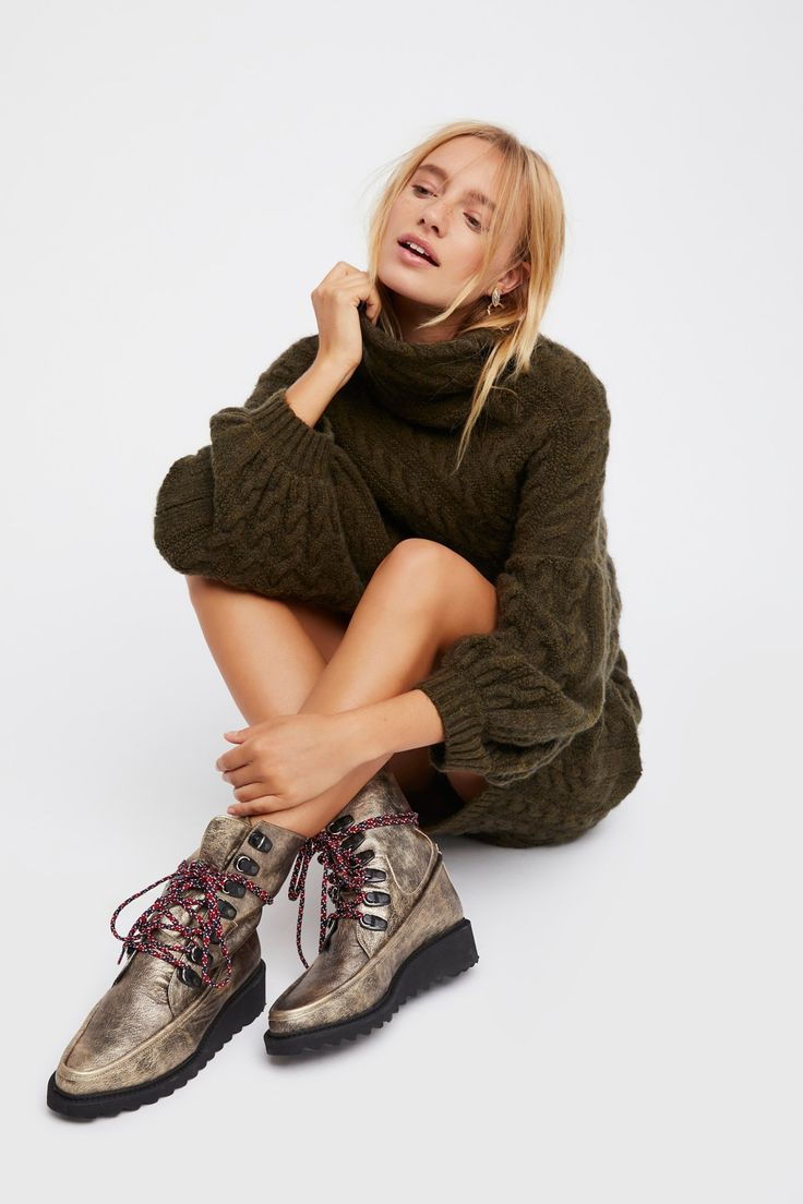 Moss heather Meant To Be Sweater Dress at Free People Clothing Boutique