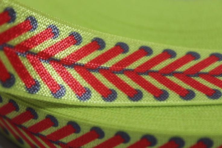 "1"" Yellow Softball FOE -Fold Over Elastic 1 inch by the yard...Print FOE, Headbands, Hair Ties and More!"