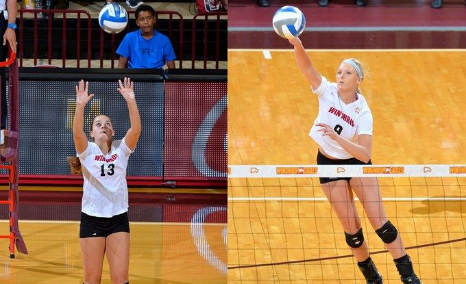McCarty-Drost-Nikki Drost and Madilyn McCarty Earn Big South Volleyball Weekly Honors