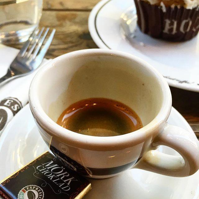 Espresso at Espresso House on Norrlandsgatan in Stockholm Sweden