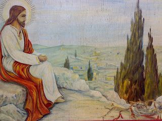 Kütyüvadászat fotelből: Jézus az olajfák hegyén, olajfestmény szignóval