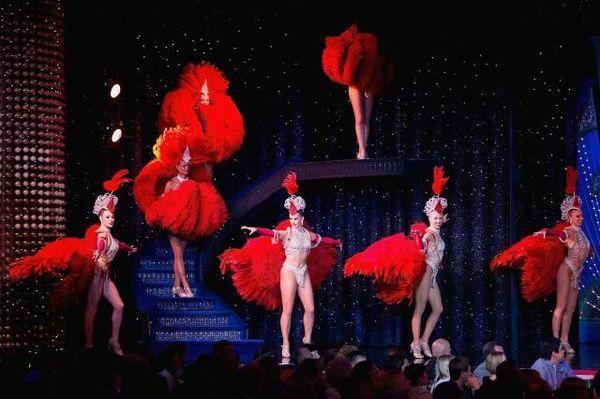 Moulin Rouge cabaret in Paris.