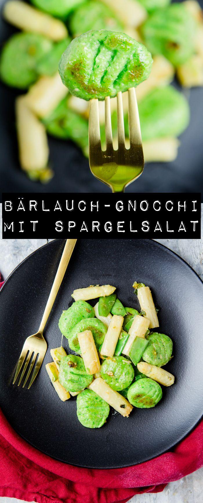 Bärlauch-Gnocchi mit Spargelsalat - www.kuechenchaotin.de