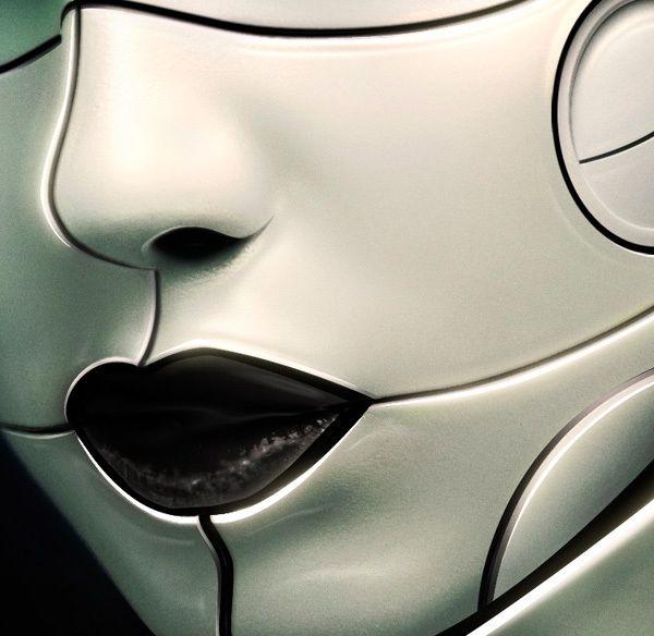 Cyborg tutorial for psdmag by Benjamin Delacour, via Behance -- makeup?