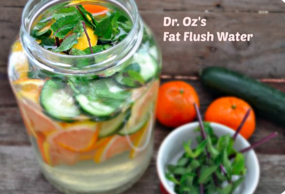 Refreshing Summer Water -keep adding more water, should keep for about a week (use organic produce)....58 Ounces of Filtered Water, One Grapefruit, One Tangerine, One Cucumber, 20 Peppermint Leaves