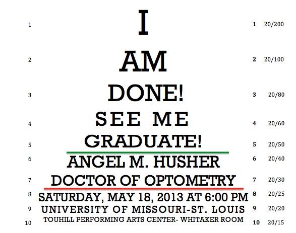 Optometry School Graduation announcement!