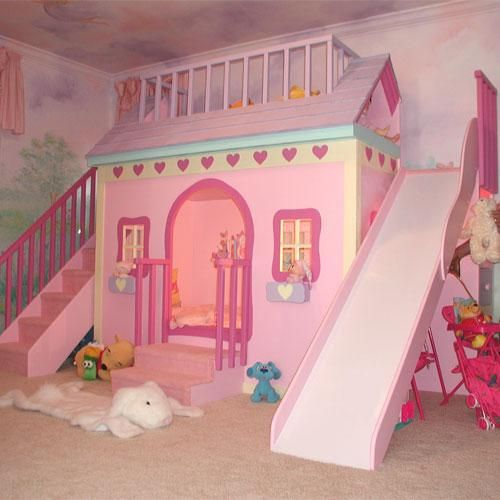 This would be so awesome to do in Bailey's next room. I wonder if I can get someone to build it!!!!!