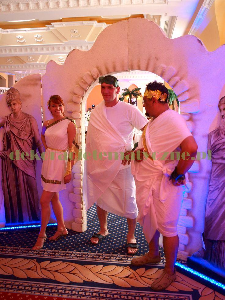 Greek entranceway / greek party / --> http://www.dekoracjetematyczne.pl/Grecja.html