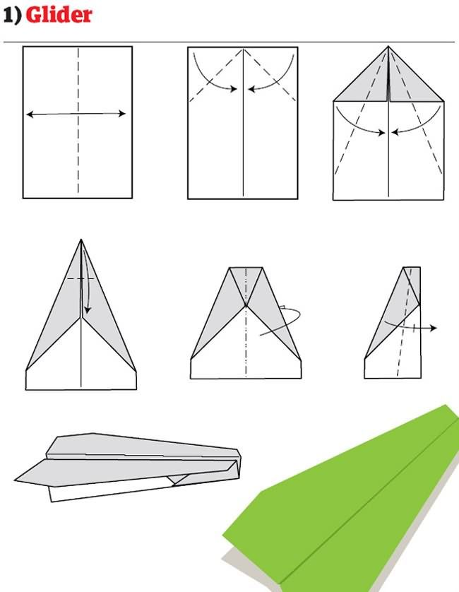 Great paper airplane models.  Some of the ads on the site are a bit NSFW, but the diagrams are very good.