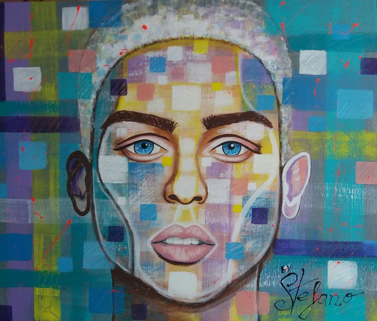 Joel by STEFANO acrylic on canvas(50x60cm) fashion art 2016 @joelmignott , supermodel acrylic,portrait,painting,painter,portrait,faces. modernpainting,fineart,artist,artpaint
