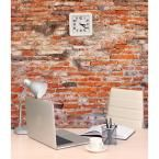 118 in. x 98 in. Red Brick Wall Mural, Orange