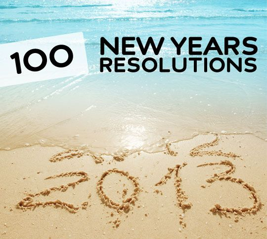 Great list of over 100 New Years Resolutions with resources to help you stick with them. If you have any trouble figuring out your New Years Resolution for this year, or just want some great inspiration to live a healthier and happier life, you need to check out this list.