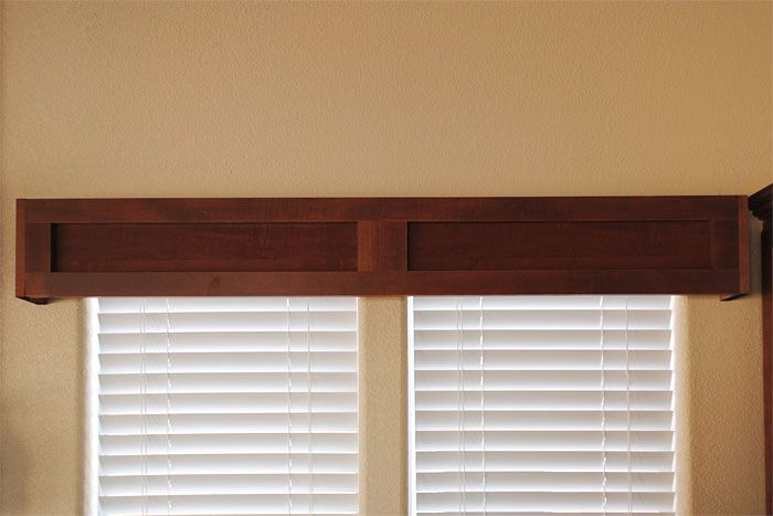 Preston Photo Gallery || Factory Expo Home Centers. Craftsman Style Wood Valance.