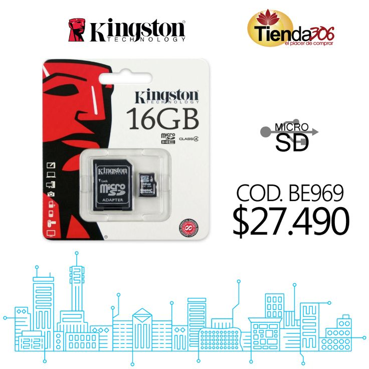Memoria Micro SD Kingston Class 4 16GB