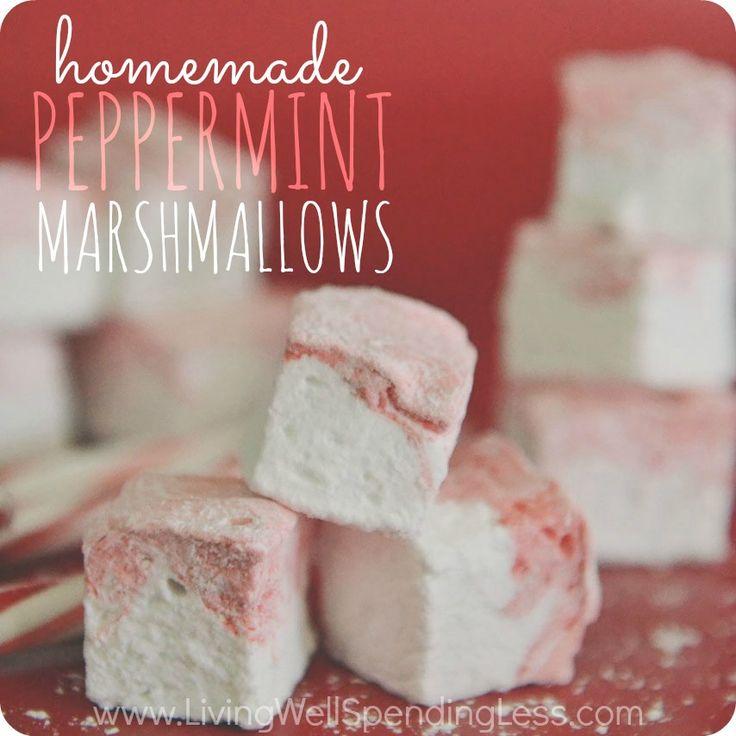 Homemade Peppermint Marshmallows
