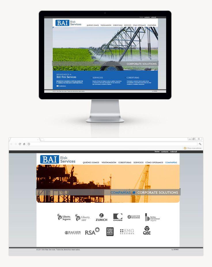 BAI Risk Services se contactó con DOMO para plantear el nuevo diseño de página. También les hacemos newsletters informativas y promocionales para que envíen por mail a sus posibles clientes.