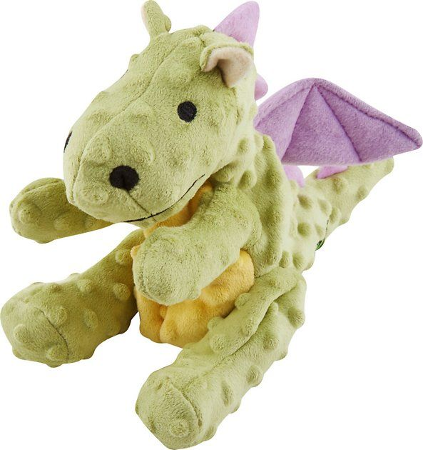 Buy Godog Dragons Chew Guard Dog Toy Lime Green Large At Chewy