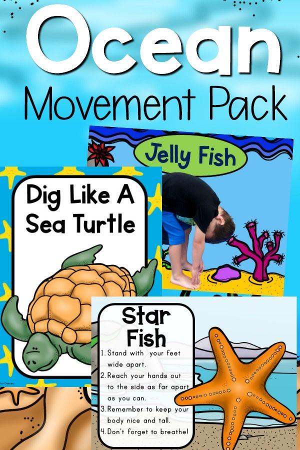 Ocean Themed Movement Pack Ocean Theme Preschool Ocean