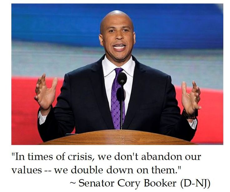 Senator Cory Booker on Values at 2016 DNC Philly Convention