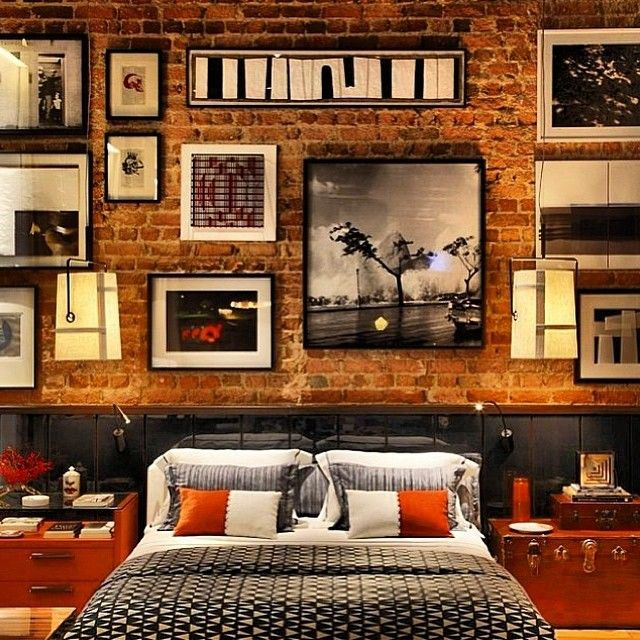 #interiordesign / stylish loft / wall / frames