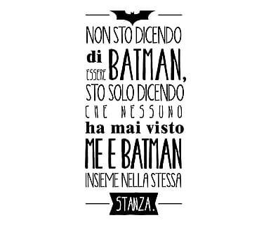 Adesivo da parete in vinile Io Sono Batman, 40x80 cm