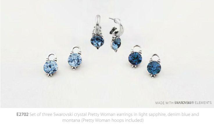 E2702 Set of blue earrings