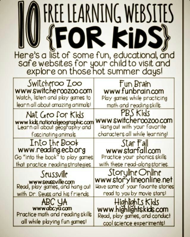 Great resources for your children and students! - Classroom websites