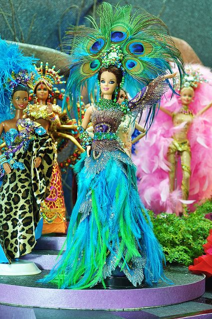 peacock barbie