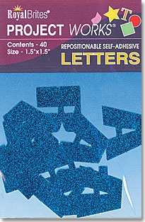Royal Brites Black & Blue Poster Letters, Self-adhesive, 40 letters/pack, $3.99, available at TheRoyalStore.com