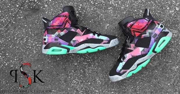 "Air Jordan 6 ""Aztec"" Custom"