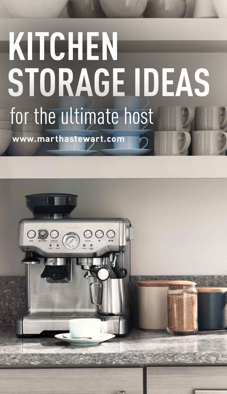 nice Martha Stewart Kitchen Organization #9: Kitchen Storage Ideas for the Ultimate Host | Martha Stewart Living - Are you the social