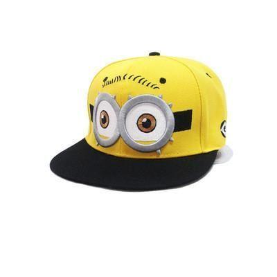 2016 Baseball Cap Children Gorras Yellow Cartoon Casquette God Steal Dads Film Minions Canvas Flat Snapback Hip Hop Hat