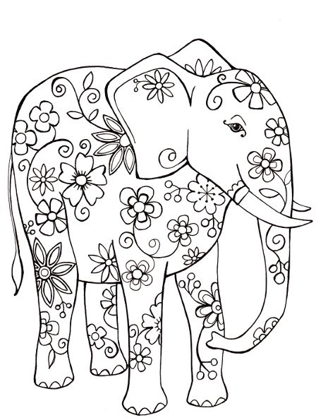 Free Coloring Sheet Elephant