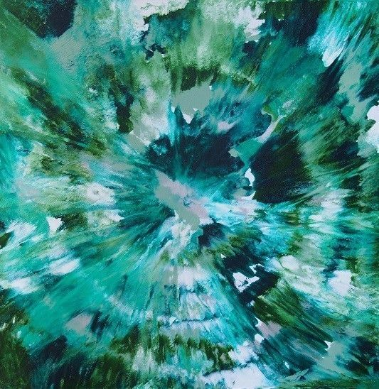 """""""Green Illusion"""" by Nicky Korneliussen. Paintings for Sale. Bluethumb - Online Art Gallery"""