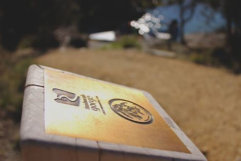 This is one of 4 brass plaques that you can rub in your passport.  Passports are available at the Central Otago Visitor Centres or shop online http://www.centralotagonz.com/online-shop The passport covers both the Roxburgh Gorge and Clutha Gold Trails