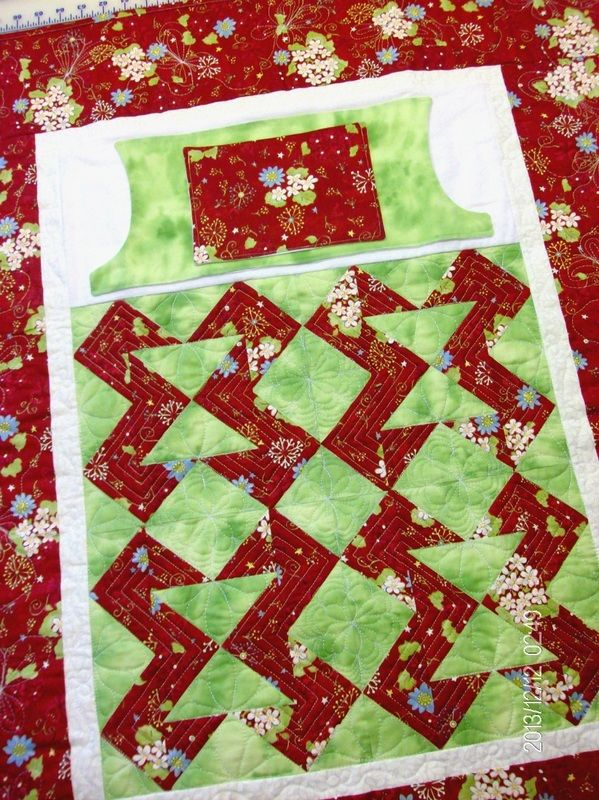 Lovie Lap Quilt with pockets lined in flannel http://www.homesewnbycarolyn.com